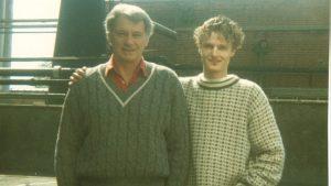 Sir Bobby Robson og Arnt H. Nodeland